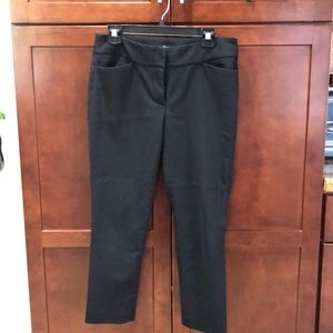 Ann Taylor Loft black cropped pants